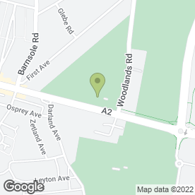 Map of Gillingham Golf Club in Gillingham, kent