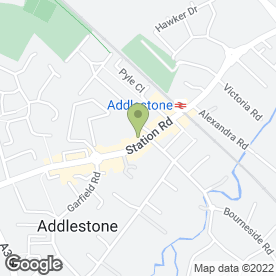 Map of The Studio in Addlestone, surrey