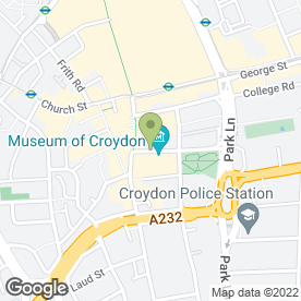 Map of Fairfield Academy in Croydon, surrey
