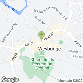 Map of Vodafone Ltd in Weybridge, surrey