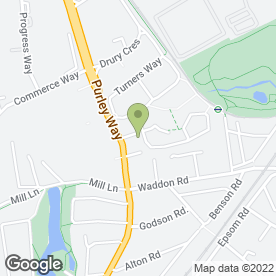 Map of Access Self Storage Croydon - Purley Way in Croydon, surrey