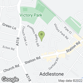 Map of Dryburgh Homes in Addlestone, surrey