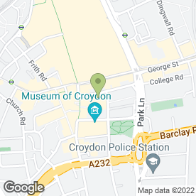 Map of Your Car Hire plc in Croydon, surrey