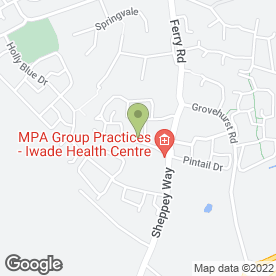 Map of Iwade Health Centre in Iwade, Sittingbourne, kent
