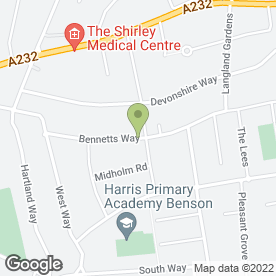 Map of A1 Chimney Sweeps in Croydon, surrey