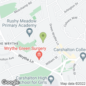 Map of Mark Matthews in Carshalton, surrey