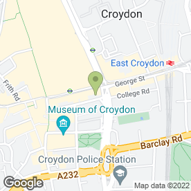 Map of Blocked Drain Specialists in Croydon, surrey