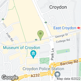 Map of Wimpy Restaurant in Croydon, surrey
