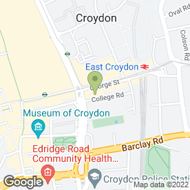 Map of Tramlink Information Centre in Croydon, surrey