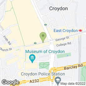 Map of The Old Brief in Croydon, surrey
