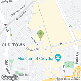 Map of Holiday Inn Express London - Croydon in Croydon, surrey