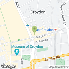 Map of McDonald's in Croydon, surrey