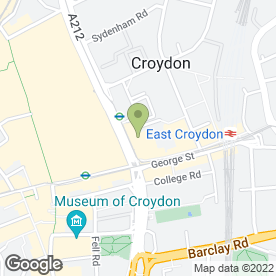 Map of Greggs in Croydon, surrey