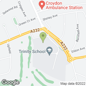 Map of Trinity School in Croydon, surrey