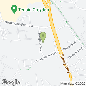Map of Progress Vehicle Management Ltd in Croydon, surrey