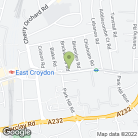 Map of East Croydon Medical Centre in Croydon, surrey