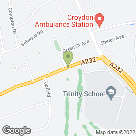 Map of Shirley Park Golf Club Ltd in Croydon, surrey