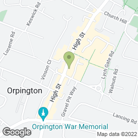 Map of Thomas Dunton Solicitors in Orpington, kent