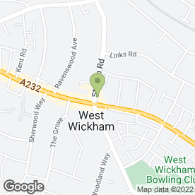 Map of Nigel Jackson - Podiatry Centre in West Wickham, kent