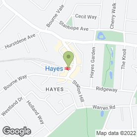 Map of Kinleigh Folkard & Hayward Estate Agents in Hayes, kent