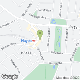 Map of Station Road P.O in Hayes, Bromley, kent