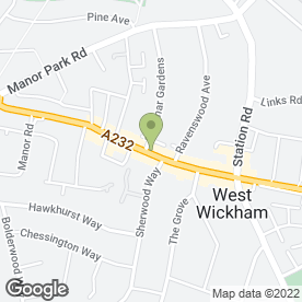 Map of Kinleigh Folkard & Hayward Estate Agents in West Wickham, kent