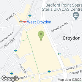 Map of Lyons Jewellers in Croydon, surrey