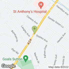 Map of Betterview Windows in Sutton