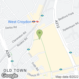 Map of Royal Bank of Scotland in Croydon, surrey