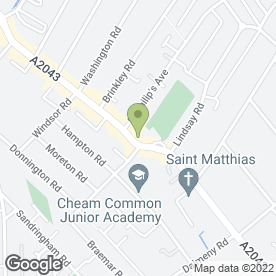Map of Oliver Hair Tech Ltd T/A Deb 'n' Hair in Worcester Park, surrey