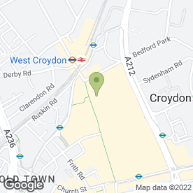 Map of Flight Centre in Croydon, surrey