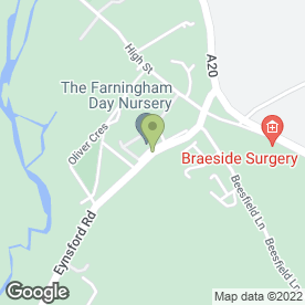 Map of The Farningham Day Nursery in Farningham, Dartford, kent