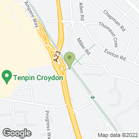Map of Budget Rent A Car in Croydon, surrey