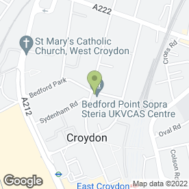 Map of A B Taverns Ltd in Croydon, surrey