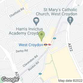 Map of Centre For World Evangelism in Croydon, surrey