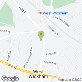 Map of THE COMPLETE WARDROBE CENTRE LTD in West Wickham, kent