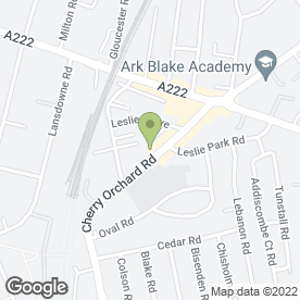 Map of GARAGE in Croydon, surrey
