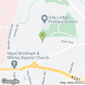 Map of Wickham Crushers in West Wickham, kent
