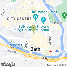 Map of Cornish Bakehouse in Bath, avon