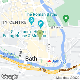 Map of KFC in Bath, avon
