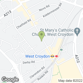 Map of Mazi's Restaurant in Croydon, surrey