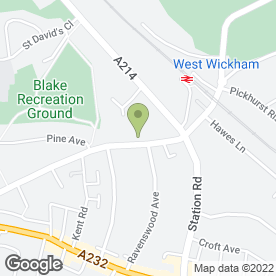 Map of Wickham Windows in West Wickham, kent