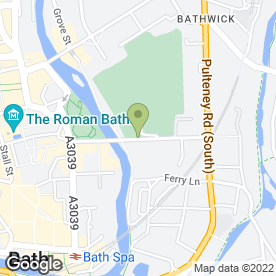 Map of Demuths Vegetarian Restaurant in Bath, avon