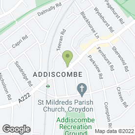 Map of Bloomers in Croydon, surrey