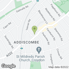 Map of Elegant Sheek Spa in Croydon, surrey