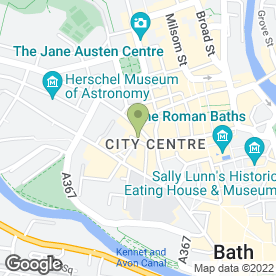 Map of Gong Fu Noodle Bar in Bath, avon