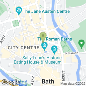 Map of Burger King (UK) Ltd in Bath, avon