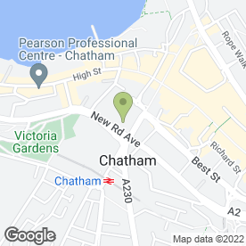 Map of Pentagon Motorist Centre in New Cut, Chatham, kent