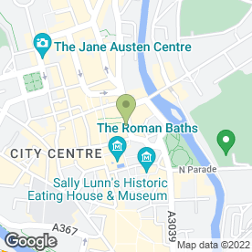 Map of NatWest Bank plc in Bath, avon