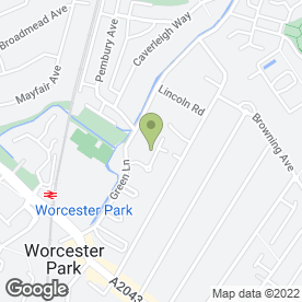 Map of A D Flooring Contracts Ltd in Worcester Park, surrey